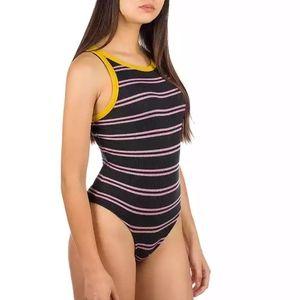 NWT Vans x Lizzie Armanto Stripe Ribbed Bodysuit